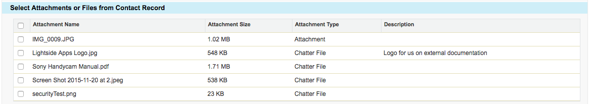 Select Email Attachments